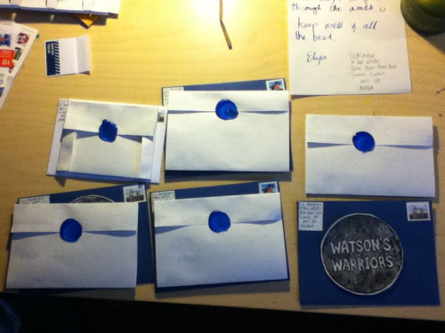 Watson's Warriors patches send out!There are still plenty more!