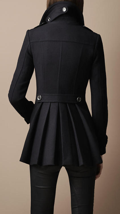 (via Burberry - BACK PLEAT MILITARY COAT)