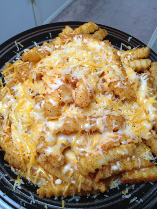 Live your best life cheese fries.