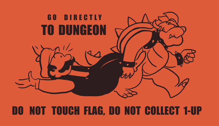 wordydrawings:  Go Directly To Dungeon. A Monopoly parody by Josh Mirman