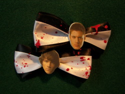 Supernatural Sam and Dean Winchester Hair Clips on Etsy!