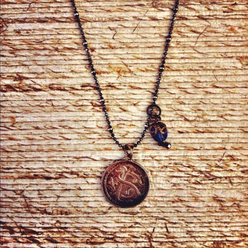 Love token necklace. @maidel @mgajewelry (Taken with Instagram at Renegade Craft Fair Los Angeles 2012)