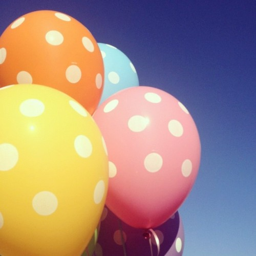 My Girl is 22 today! #color #balloons #sky  (Taken with Instagram)