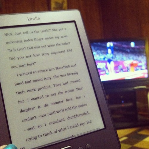 Reading 'Gone Girl' and watching the Olympics…oh and eating KFC. #sluglife #cantevendoacartwheel (Taken with Instagram)