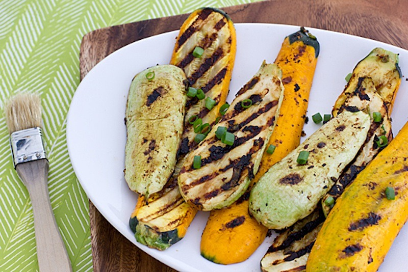 Miso-Marinated Grilled Summer Squash by Oh My Veggies
