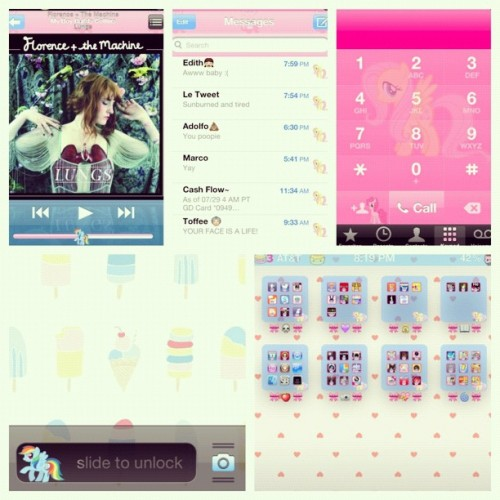 My phone ATM till I can tweak it some more 💜 (Taken with Instagram)
