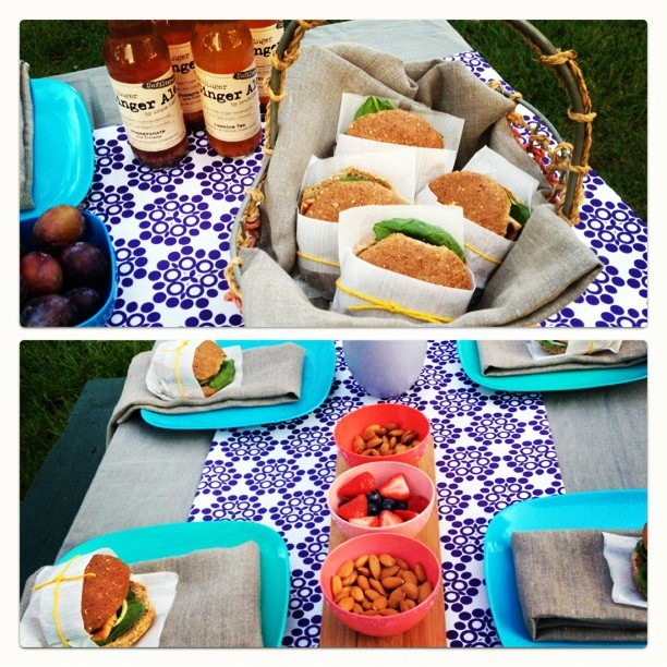 Sneak Peek: Mini picnic party photo shoot. We couldn't let national #picnic month slip by without celebrating #lanakole style!  #studio #sneakpeek #garden #party #lunch #fabric #design #tablescape (Taken with Instagram)