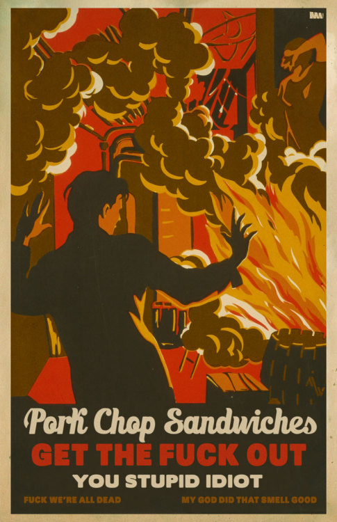 Pork Chop Sandwiches! WPA Poster parody of GI Joe Pork Chop Sandwiches  PRINT NOW AVAILABLE!