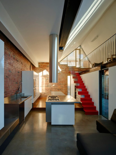 Gorgeous industrial kitchen by Andrew Maynard Architects in Australia…