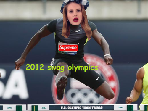 firstannualswagolympics:  LANA DEL REY GIVES IT HER ALL AT THE OLYMPICS  I died.