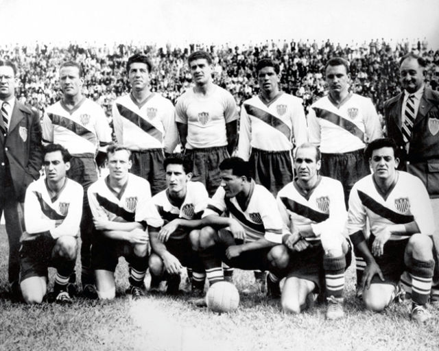 The United States team at the 1950 World Cup.