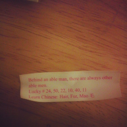 #thirdcommons  #fortunecookie  (Taken with Instagram)