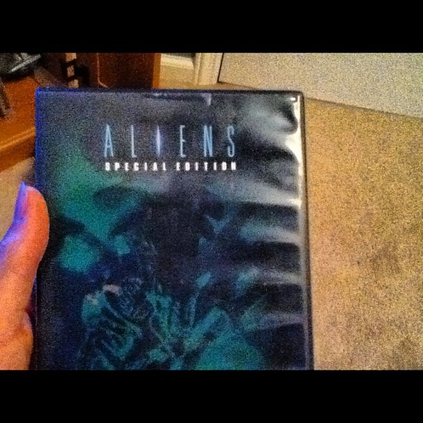 My shit. #alien#DVD#layingdown#movie (Taken with Instagram)