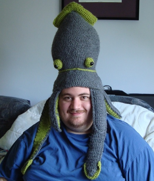 Crocheted Squid Hat