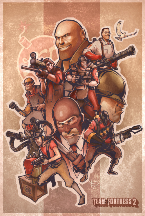 saeluive:  Team Fortress 2 - Poster By Ebae