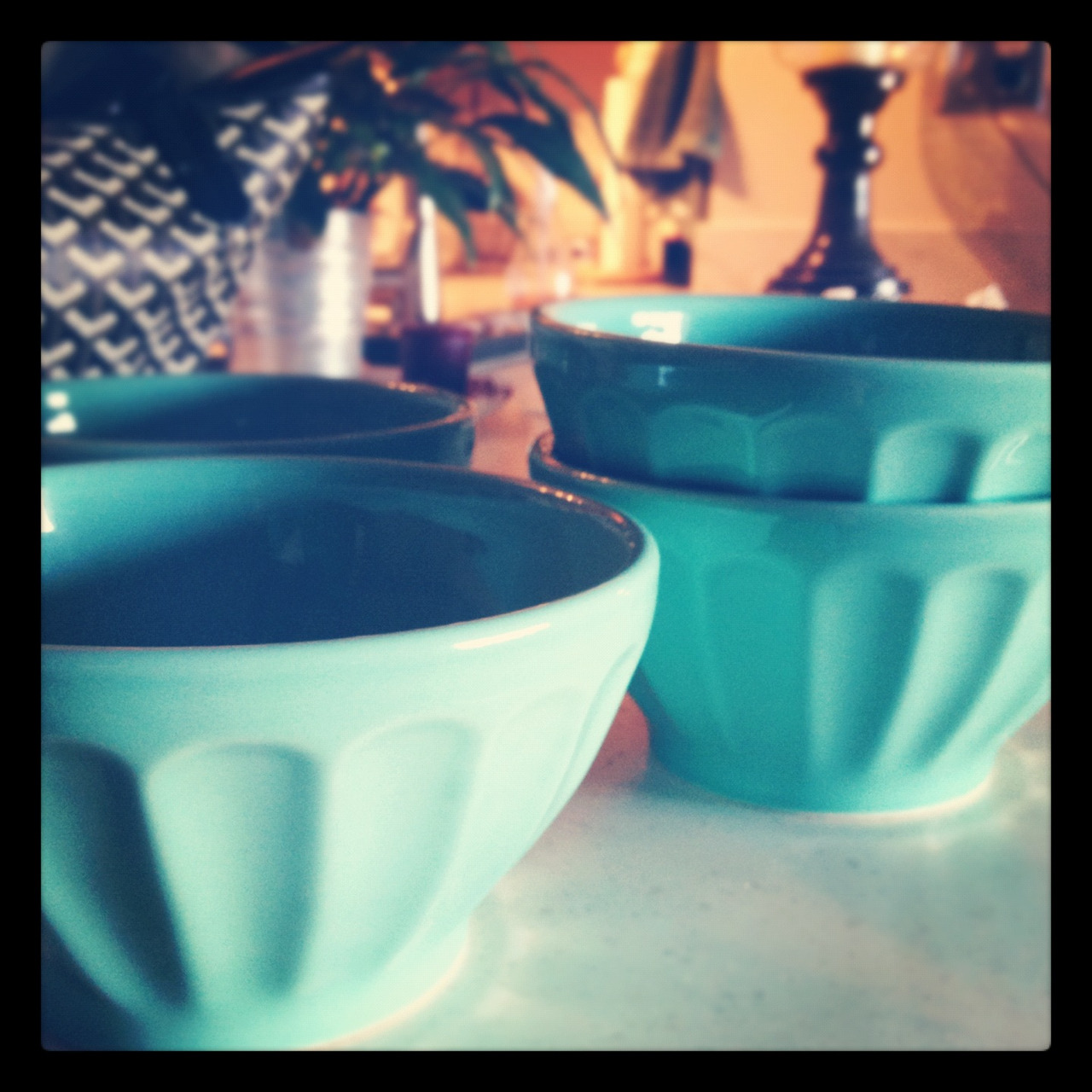 New #turquoise @anthropologiecom Biscuit bowls. #portugal #dishes #kitchen #home #anthropologie