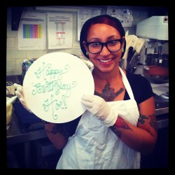 Things we wish we could really write on cakes :) @addycakes13 #magnoliabakery #cakes #chicago  (Taken with Instagram at Magnolia Bakery)