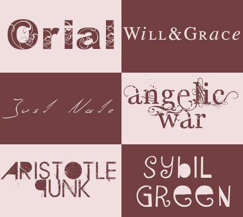 pscs5:  FontsPack: Orial, Will&Grace, Just Nate, Angelic War, Aristotle Punk, Sybil Green. Download: HERE If you download, please like or reblog.