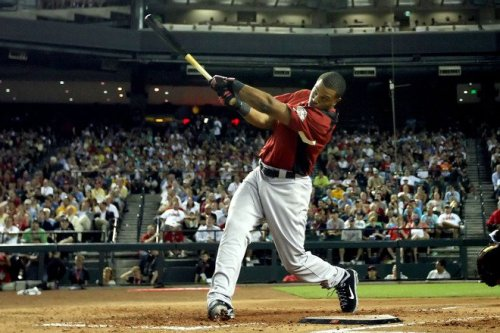 Robinson Cano showing off that sweet swing during the 2011 Home Run Derby