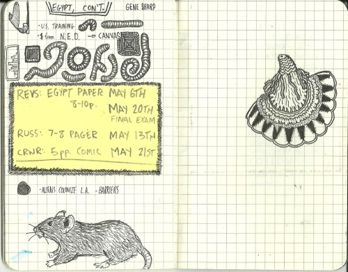 sketchbook page/notes