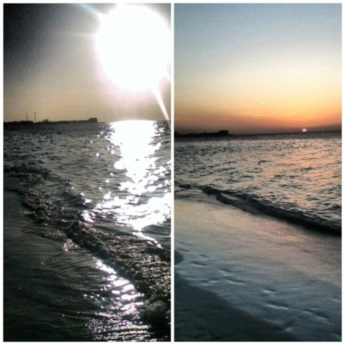 Had a beach day wit my bxtches! 🌊☀ #sunset #beach #ocean #summer #nofilter (Taken with Instagram)