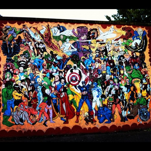 The gangs all here. #muycaliente2012  #marvel (Taken with Instagram at Old School Pizzeria)