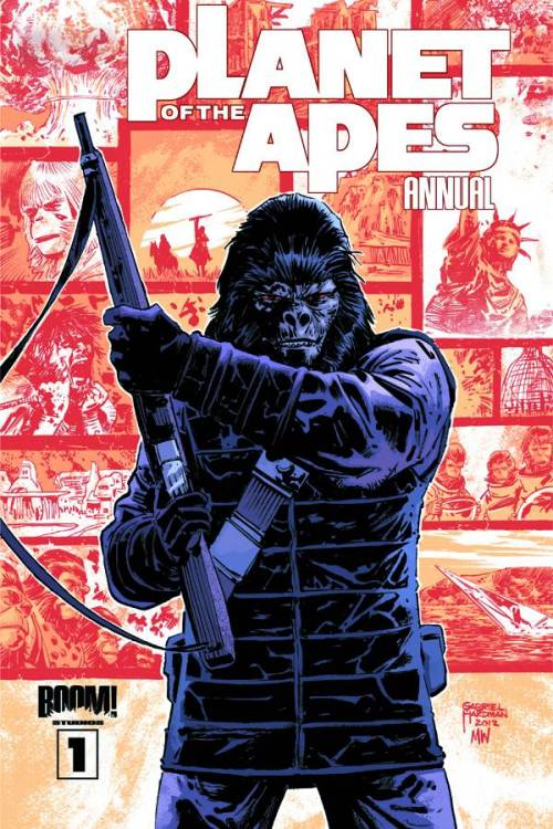 Market Monday Planet Of The Apes Annual #1, co-written by Corinna Bechko  The PLANET OF THE APES ANNUAL leaves no stone unturned! Join superstar writer Jeff Parker (HULK, THUNDERBOLTS), acclaimed writer/artist Gabriel Hardman (HULK, AGENTS OF ATLAS), red hot writer Corinna Bechko (HEATHENTOWN, FEAR ITSELF: THE HOMEFRONT), and Apes mega-scribe Daryl Gregory as they pit man versus ape. And with art from Gabriel Hardman, Carlos Magno (TRANSFORMERS), and John Lucas (UNCANNY X-FORCE), this is a special issue you won't want to miss. Discover the untold stories of the PLANET OF THE APES, with stories spanning from the first human rebellion, to Ape society's glorious renaissance, to a simple story of a boy and his pet human. There's something for every Apes fan in this Annual!