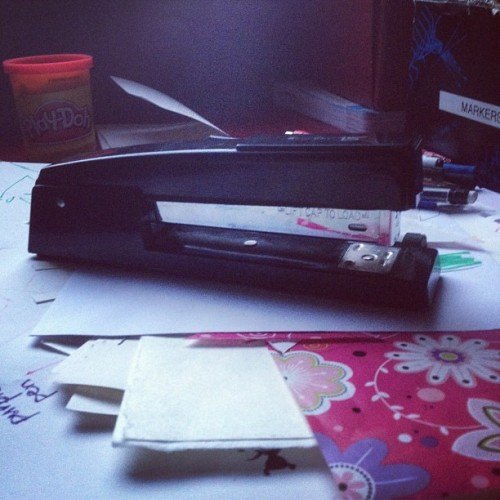 Bloodthirsty stapler. (Taken with Instagram)