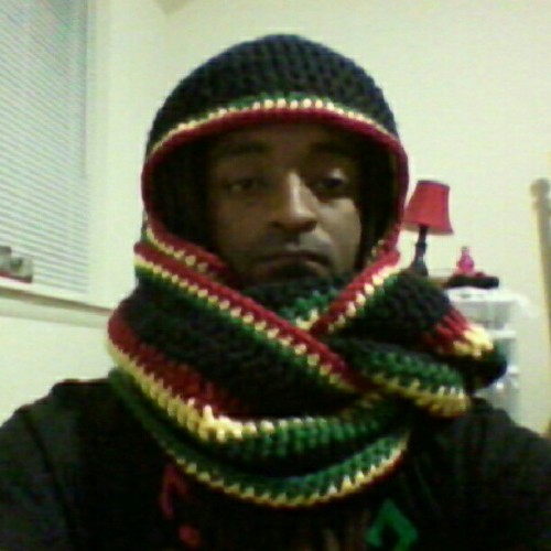 "#justfinished ""stir it up"" hooded scarf the way its worn for winter #dc #crochet #fashion #art #crafting #swag (Taken with Instagram)"