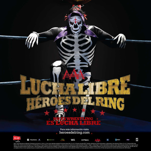 Advert for Lucha Libre AAA: Héroes del Ring Amazing shot for such a terrible, terrible game.