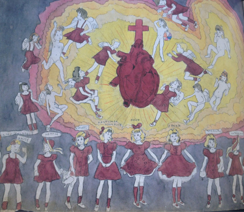 foxesinbreeches:  throwherinthewater,overagenymphet:  From Untitled (The Sacred Heart of Jesus) by Henry Darger