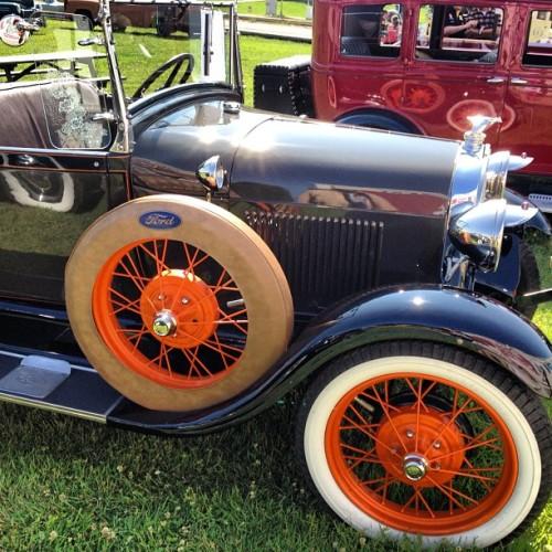 1929 Phaeton Model A Ford at Fort Edmonton Park. #yeg #fortedmontonpark #antique #car #ford  (Taken with Instagram)