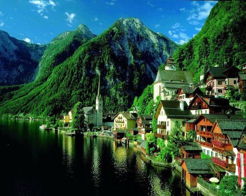 bluepueblo:  Summer Green, Hallstatt, Austria photo via vintage