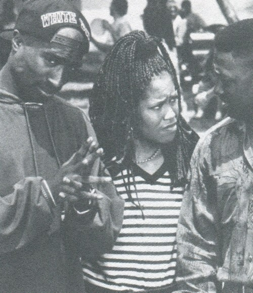 May 1992 with Regina King and Joe Torry on the set of Poetic Justice