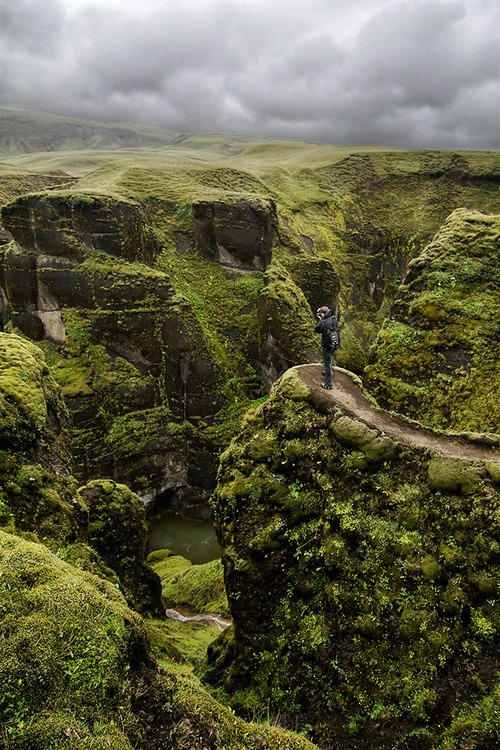 Fjaðrárgljúfur Canyon, Iceland  I want to go!