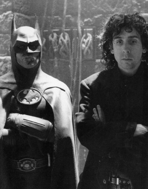 Michael Keaton and Tim Burton (via DreamMovieCast)
