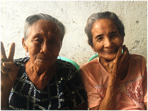Grandma Encarnacion (dad's mom)  and Grandma Andrea (mom's mom) at our family celebration yesterday.  Over 80 but still cool :)