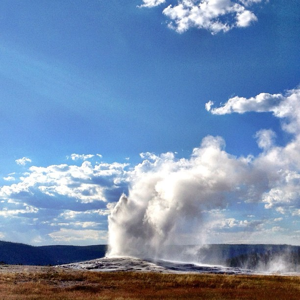 Still faithful (Taken with Instagram at Old Faithful Geyser)