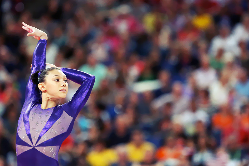OLYMPICS DAY 2 USA Gymnast Kayla Ross competing in floor exercise.Photo by Ronald Martinez