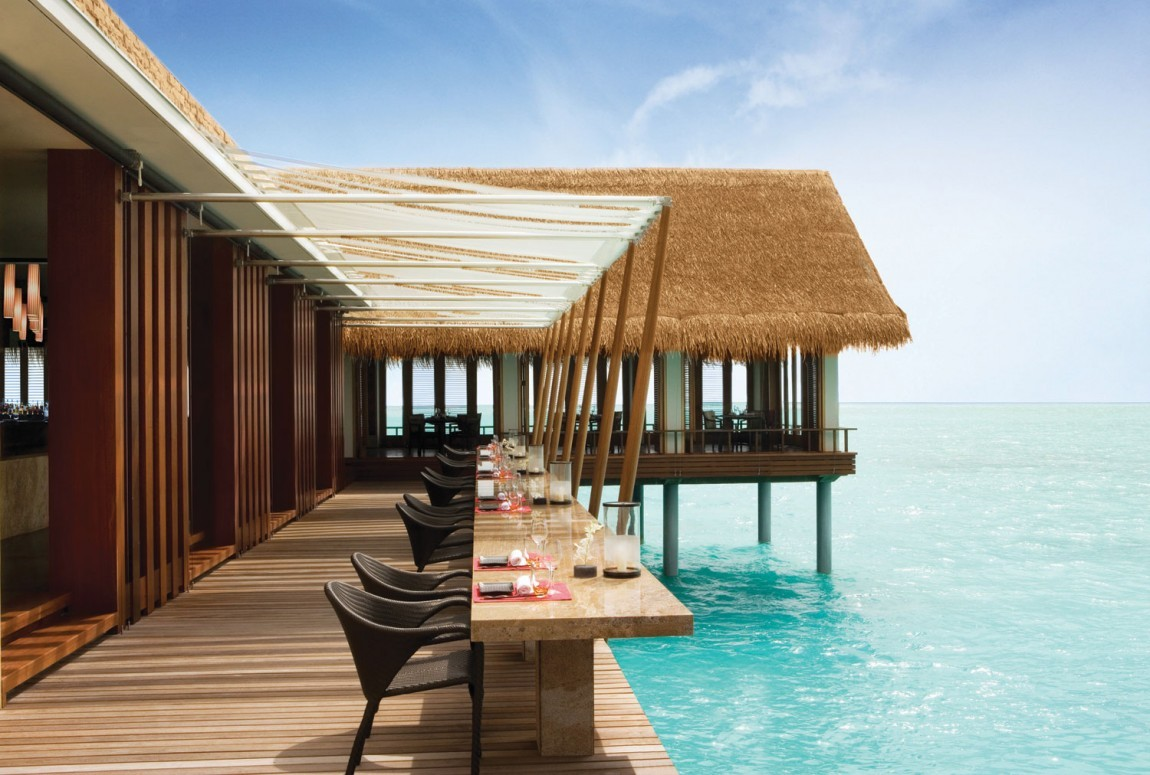 Lunch / Bar area - luxury resort, Maldives.