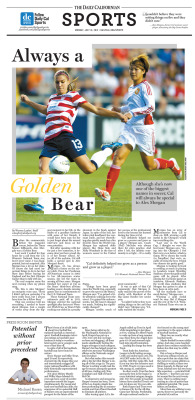 Sports feature for July 16, 2012: 'Always a Golden Bear' Layout Design: Chris Chau & Sierra Alef-Defoe/Staff  Read more at dailycal.org
