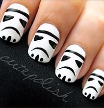 Learn how to paint stormtroopers on your nails on Bit Rebel.