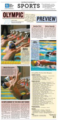 Sports feature for July 23, 2012: Olympic Preview Layout Design: Sierra Alef-Defoe/Staff Read more at dailycal.org