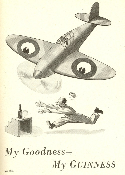 adelphe:  Guinness ad - Lilliput Magazine January 1941
