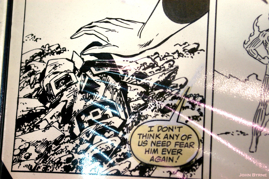 """…Consumed by the Power Cosmic."" The Art of John Byrne: The Fantastic Four #260: 1983. MegaCon. Orlando. 2012. Nostalgic Investments Booth."