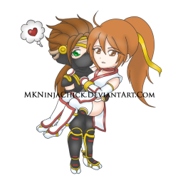 .:Chibi Kasumi and Ryu:. by *MKNinjaChick Yay, I improved the colors. Woohoo. :D