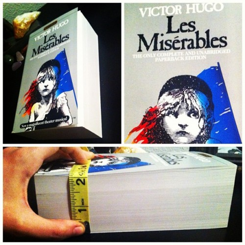 #victorhugo #lesmiserables #challengeaccepted #lesmis #musicals #jeanvaljean #tradegy #24601 #novel  #literature  (Taken with Instagram)