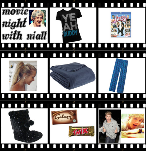 MOVIE NIGHT WITH NIALL!!! by imthetruedirectioner featuring sequin shoesEmo shirt / Patagonia / Sequin shoes, $19 / LCM\ Home\ Fashions,\ Inc. Supreme Fleece Blanket / Grease - Widescreen Dubbed Subtitle - DVD