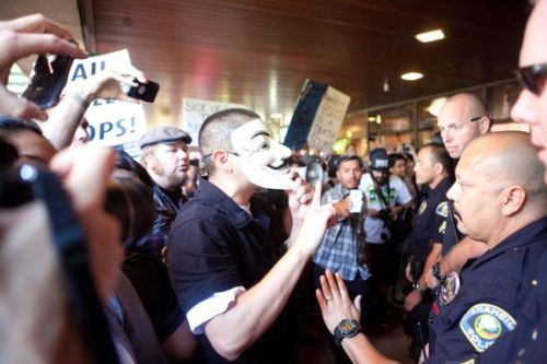 beatboxbarbie:  Riots over the deadly police shootings in Anaheim, CA