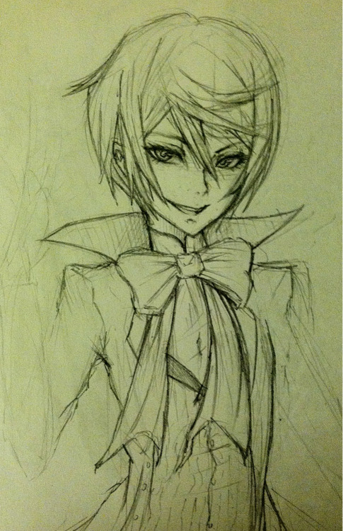 I awoke with the sudden need to draw Alois Trancy…….. >w> My absolute most favorite character everrrrrr